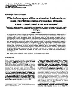 Effect of storage and thermochemical treatments on glass ... - CiteSeerX