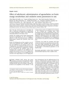 Effect of subchronic administration of ... - Wiley Online Library