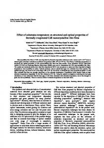 Effect of substrates temperature on structural and optical ... - NOPR