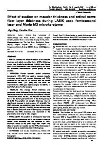 Effect of suction on macular thickness and retinal