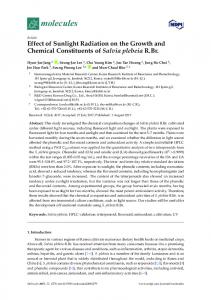 Effect of Sunlight Radiation on the Growth and Chemical ... - MDPI