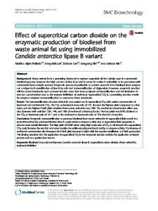 Effect of supercritical carbon dioxide on the ... - BMC Biotechnology
