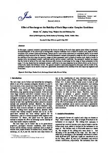 Effect of Surcharge on the Stability of Rock Slope under Complex ...