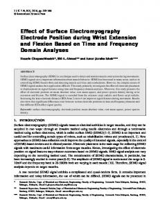 Effect of Surface Electromyography Electrode Position ...