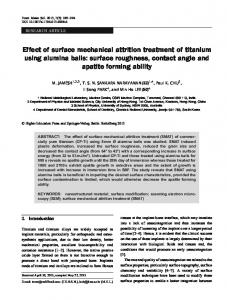 Effect of surface mechanical attrition treatment of titanium using ...