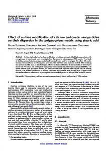 Effect of surface modification of calcium carbonate nanoparticles on ...