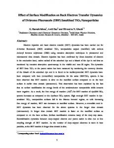 Effect of Surface Modification on Back Electron Transfer Dynamics of ...