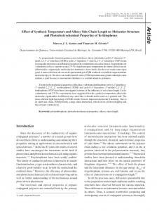Effect of Synthesis Temperature and Alkoxy Side Chain Length on