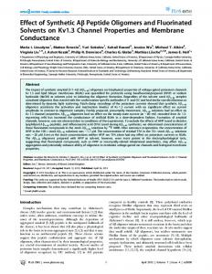 Effect of Synthetic Ab Peptide Oligomers and ... - Semantic Scholar