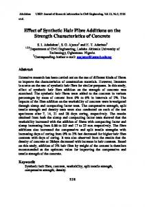 Effect of Synthetic Hair Fibre Additions on the Strength Characteristics
