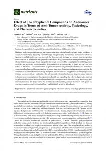 Effect of Tea Polyphenol Compounds on ... - Semantic Scholar