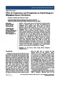 Effect of Temperature and Precipitation on Global Mangrove ...