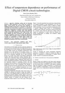Effect of temperature dependence on performance of ... - IEEE Xplore