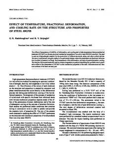Effect of Temperature, Fractional Deformation, and Cooling Rate on ...