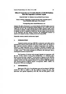 effect of temperature on corrosion behaviour of aisi 304 ... - USM