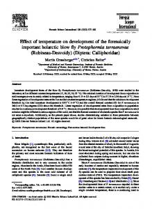 Effect of temperature on development of the ...