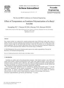 Effect of Temperature on Emulsion Polymerization of