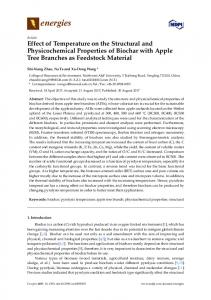 Effect of Temperature on the Structural and Physicochemical ... - MDPI