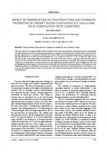 effect of temperature on the structure and strength properties of