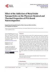 Effect of the Addiction of Metal Oxide Nanoparticles on the Physical ...