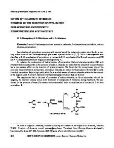 Effect of the Amount of Sodium Ethoxide on the Direction of Cyclization