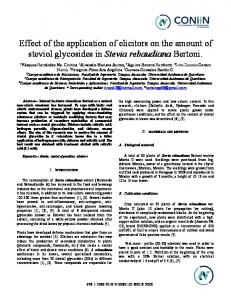 Effect of the application of elicitors on the amount of