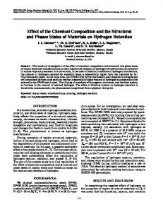 Effect of the Chemical Composition and the Structural ... - Springer Link