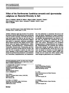 Effect of the Earthworms Lumbricus terrestris and ... - Springer Link