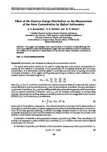 Effect of the Electron Energy Distribution on the ... - Springer Link