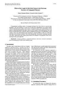Effect of the Length of Alkyl Side Chains in the ... - Materials Research