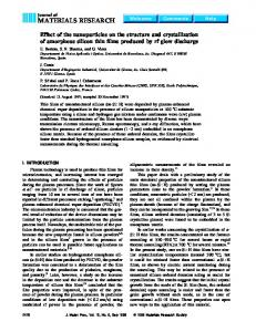 Effect of the nanoparticles on the structure and ... - Semantic Scholar