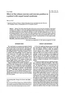 Effect of the release exercise and exercise position ... - Semantic Scholar