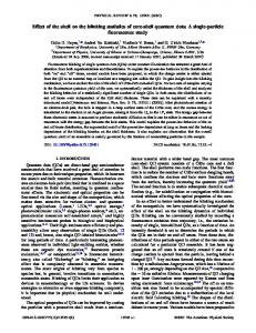 Effect of the shell on the blinking statistics of core-shell quantum dots ...