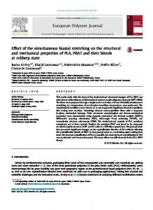 Effect of the simultaneous biaxial stretching on the ...