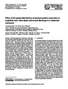 Effect of the spatial distribution of physical aquifer properties on ...