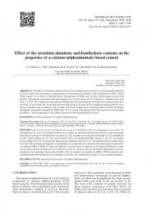 Effect of the strontium aluminate and hemihydrate contents on the