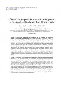 Effect of the Temperature Variation on Properties of Biodiesel and ...