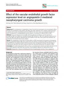 Effect of the vascular endothelial growth factor ... - BioMedSearch