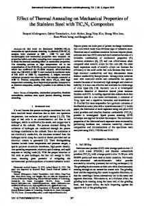 Effect of Thermal Annealing on Mechanical Properties of the Stainless ...