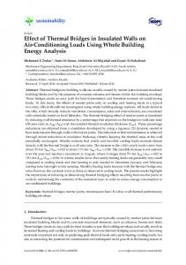 Effect of Thermal Bridges in Insulated Walls on Air ... - MDPI