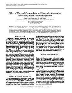 Effect of thermal conductivity on ultrasonic attenuation ... - Springer Link