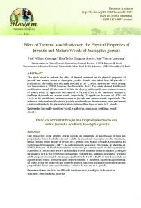 Effect of Thermal Modification on the Physical Properties of ... - Scielo.br