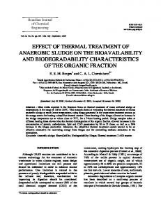 effect of thermal treatment of anaerobic sludge on the ... - SciELO