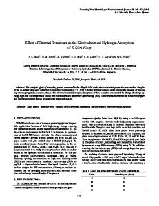 Effect of Thermal Treatment on the Electrochemical ... - CiteSeerX
