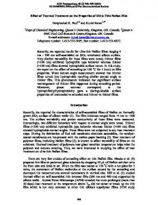 Effect of Thermal Treatment on the Properties of ... - ECS Transactions