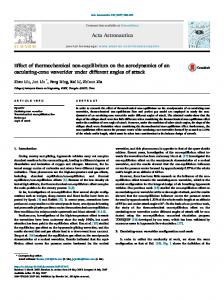 Effect of thermochemical non-equilibrium on the aerodynamics of an ...
