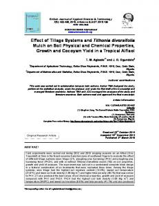 Effect of Tillage Systems and Tithonia diversifolia Mulch on Soil ...