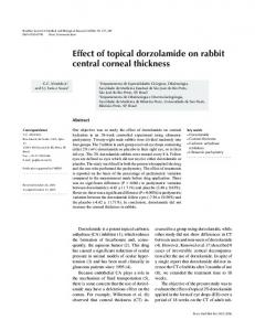 Effect of topical dorzolamide on rabbit central ... - Semantic Scholar