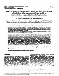 Effect of transcriptional activators RamA and SoxS ... - Oxford Journals