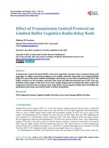 Effect of Transmission Control Protocol on Limited Buffer Cognitive ...